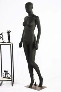 weibliche Schaufensterpuppe LF1-8 abstrakte schwarz lackierte Schaufensterpuppe in Matt Nase und Mund geformt