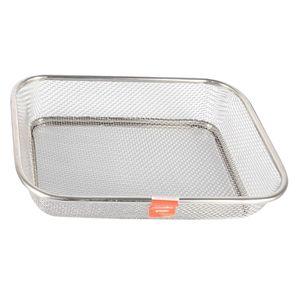 1 Stück Sieb Edelstahl Abtropfsieb Siebschüssel Seiher für Gemüse Früchte Reinigung Waschen Größe 34x25cm