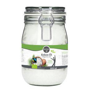 borchersFairtrade Kokosöl Nativ   Naturbelassen   Erste Kaltpressung   Zum Kochen, Braten & Backen   1000 ml.