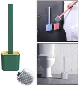 Edelstahlgriff rostfrei Schwarz, 3er Set Leadfun Toilettenb/ürste Silikon Toilettenb/ürsten f/ür Badezimmer Silikon WC B/ürste Ersatz Klob/ürste