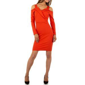 Ital-Design Damen Kleider Cocktail- & Partykleider Rot Gr.xl