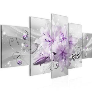 Blumen Lilien BILD :200x100 cm − FOTOGRAFIE AUF VLIES LEINWANDBILD XXL DEKORATION WANDBILDER MODERN KUNSTDRUCK MEHRTEILIG 019851b