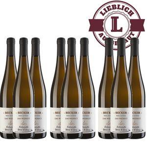 Weißwein Rheinhessen Scheurebe Weingut Becker lieblich (9 x 0,75 l)