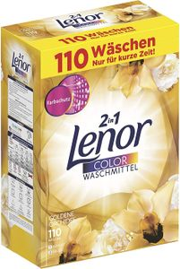 Lenor Waschmittel Pulver Color 110WL 7.150g 2in1 Goldene Orchidee
