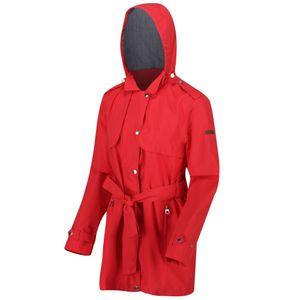 Regatta Damen Garbo Lange Wasserfeste Jacke RG4965 (36 DE) (Rot)