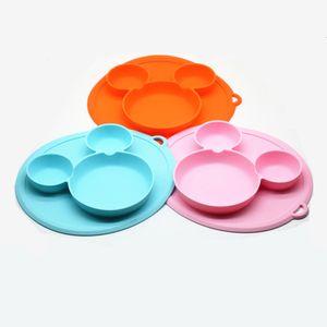 Silikon Teller für Babys und Kinder | Babygeschirr, Rutschfest, BPA-frei, Wasserdicht, Abwaschbar & leicht zu reinigen | Silikonteller Clay für Junge/Mädchen