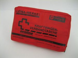 Verbandtasche Nylon Rot Din 13164