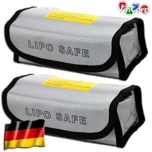 VinCorp 2X 185 x 70 x 60 mm Lipo Akku Guard Safe Safety Bag Tasche Ladetasche Sicherheitstasche feuerfest