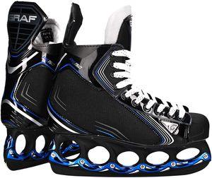 tblade Schlittschuhe Graf Pk150 Blue Eishockey und Freestyle t blade Schlittschuhe Eislaufen- : 44 Größe: 44