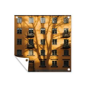 Gartenposter - Zweden - Huis - Balkon - 100x100 cm