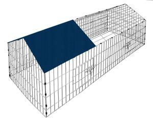 Kaninchenstall Freigehege Hasenkäfig Freilauf Gehege Hasenstall Laufstall Gehege, Farbe:blau