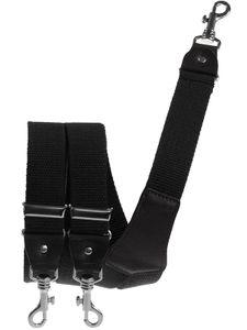 Extra starker Hosenträger mit Karabinerhaken, Größen:120 cm, Farben:schwarz