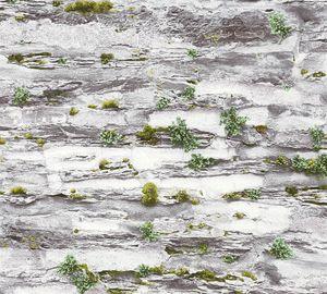 A.S. Création Steintapete Il Decoro Tapete in Naturstein Optik Papiertapete grau 10,05 m x 0,53 m