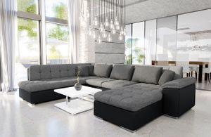 Mirjan24 Ecksofa Niko Bis, Bettkasten und Schlaffunktion, Sofa vom Hersteller, Wohnlandschaft, Polstergarnitur (Soft 011 + Lux 05 + Lux 06, Seite: Rechts)