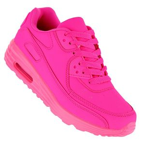 Art 107  Neon Luftpolster Turnschuhe Schuhe Sneaker Sportschuhe Neu Damen, Schuhgröße:38