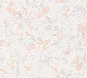 Livingwalls Vliestapete Hygge Tapete creme grau rosa 10,05 m x 0,53 m 363973 36397-3