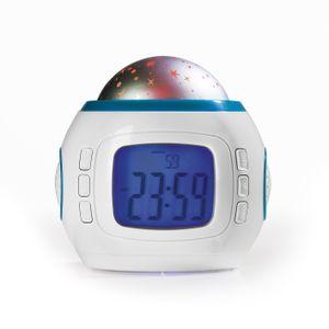 EASYmaxx Wecker LED-Sternenhimmel Projektor Soundeffekt Kind Nachtlicht Uhr