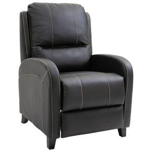 HOMCOM Massagesessel Fernsehsessel Relaxsessel Heizfunktion Fußstütze 90-165° PolyurethanSchwarz 70 x 93 x 100 cm