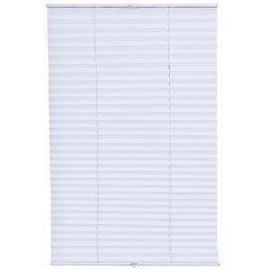 [neu.haus] Klemmfix Plissee (80 x 200 cm) (weiss) - Sonnen- und Lichtschutz - blickdicht (bohren entfällt)