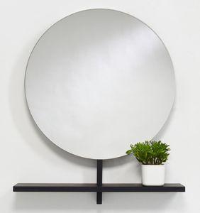 Casa Padrino Luxus Spiegel / Wandspiegel mit Ablage Schwarz 100 x 20 x H. 115 cm - Luxus Möbel