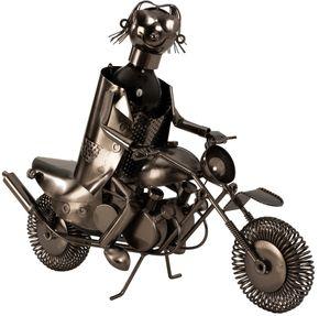 Flaschenhalter Metall Motorrad 47 cm Weinflaschenhalter