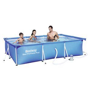 Bestway Frame Pool Deluxe Splash-Steel Pro 300 x 200 x 66 cm, mit Ablassventil, 3300 l