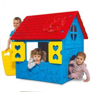Spielhaus Kinderhaus blau-rot-gelb 106x98x90cm bunt (EU Ware)