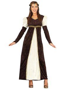 Fiestas Guirca kleid Princess Damen Polyester braun Größe L