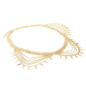 Kettengürtel Hüftgürtel Taille Buckle Vintage Kleid Dekoration Gold