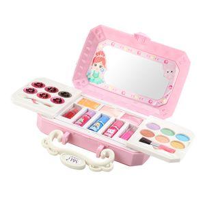 Mädchen Make-up Kit Spielzeug Waschbar Make-up Palette Lipgloss Errötet Nagellack B wie beschrieben Falten Sie Make-up-Kit Vortäuschen Sie spielen Beauty Toy