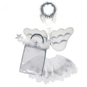Rubie's kostüm Engel Mädchen Einheitsgröße weiß 5-teilig