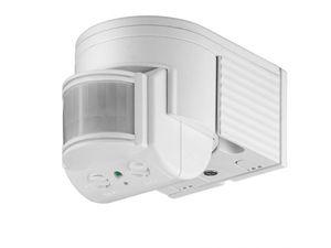 Goobay Infrarot Bewegungsmelder Aussen - Aufputz - Dreh/Neigbar - 12m Reichweite  - 180 Grad Erfassungsbereich - IP44 Schutzklasse - Spritzwasser geschützt - Weiß