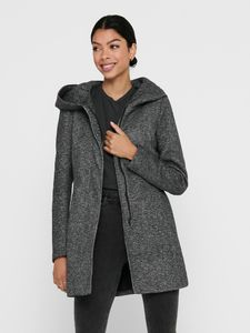 Only Damen-Woll-Mantel onlSedona Light Coat Otw 15142911, Größe:M, Farbe:Dunkelgrau