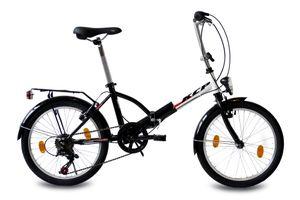 20 Zoll Faltrad KCP FOLDO Stahl 6G SHIMANO Tourney weiß schwarz