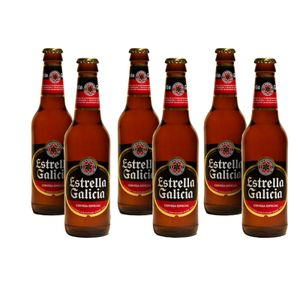 Estrella Galicia Cerveza Bier 6 x 33cl
