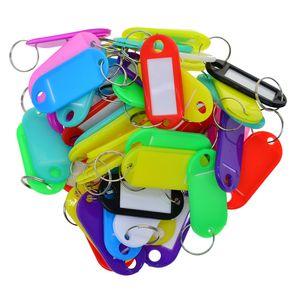 50Pcs Assorted Color Wasserdichte Gemischt Schlüsselanhänger Schlüsselschilder Kofferanhänger Schlüsselanhänger