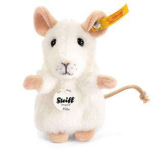 Steiff 056215 Pilla Maus | 10 cm Webpelz weiß