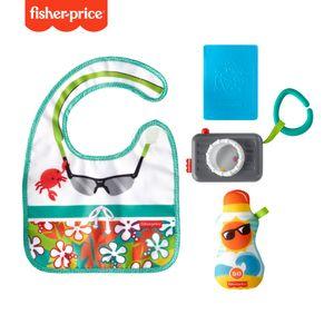Fisher-Price Reisespaß Rassel- und Knisterset, Baby-Spielzeug für Neugeborene