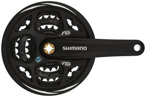 Shimano Altus FC-M311 Kurbelgarnitur 42/32/22 schwarz Kurbelarmlänge 175