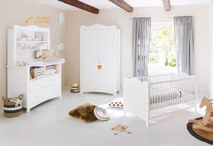 Kinderzimmer 'Florentina' extrabreit, inkl. extrabreitem Regalaufsatz