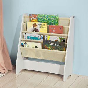SoBuy® Kinder-Bücherregal,Büchergestell,Zeitungsständer,FRG225-W