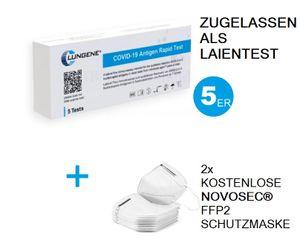5x Corona Schnelltest Antigen-Test Kit Selbsttest Laientest für zu Hause zugelassen gem. BfArM Virus COVID-19 Antigen Rapid Test