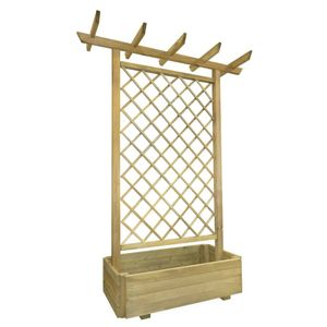 Chunhe Pergola mit Pflanzkasten 162x56x204 cm Holz