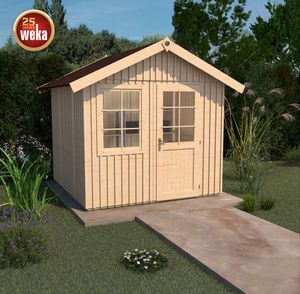Weka Gartenhaus 22mm Schwedenhaus 410 Gr. 1 natur 314x302cm