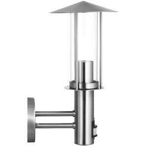 LED Wandleuchte, Edelstahl, Bewegungsmelder, H 33 cm