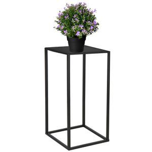 Modern Blumenständer Metall Blumensäule Schwarz 40 cm