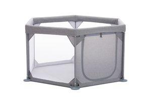 Fillikid Laufgitter 6-eckig mit Einstieg Exclusiv, Design:grau