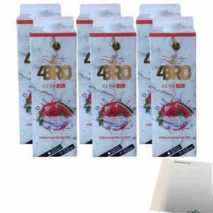 4Bro Ice Tea Red Crash 6er Pack (6x1000ml Pack Eistee) + usy Block