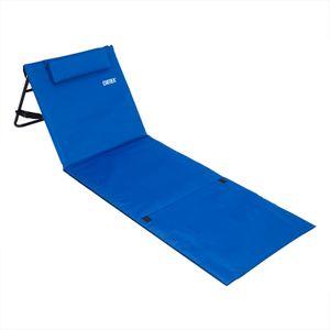 Deuba Strandmatte Gepolstert Kopfkissen Faltbar Verstellbare Rückenlehne Staufach Badematte Isomatte Strandtuch Blau
