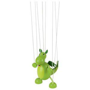 goki 51754 Marionette Dinosaurier, grün